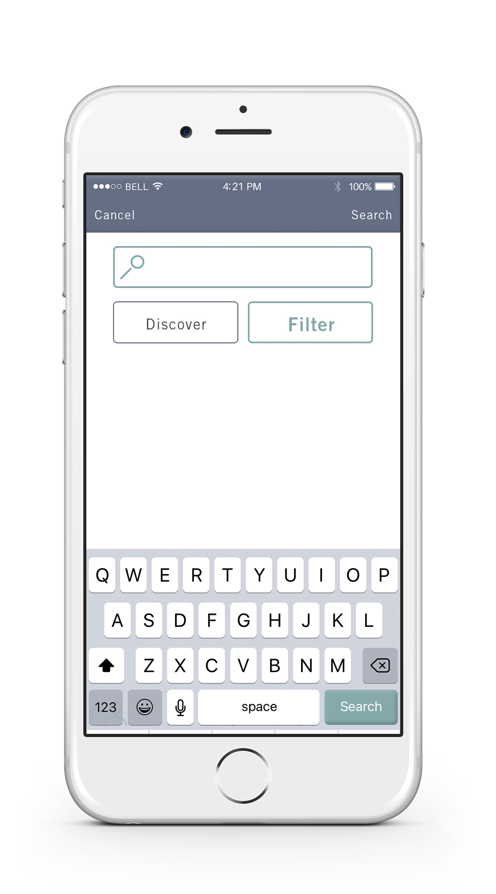 Search    —   The search tab is where the user can type in a specific name for a location, discover a random location or filter his/her search.
