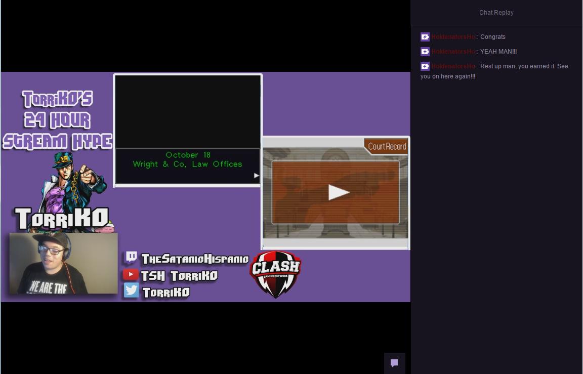 The final moments of TheSatanicHispanic's 24 hour live stream.