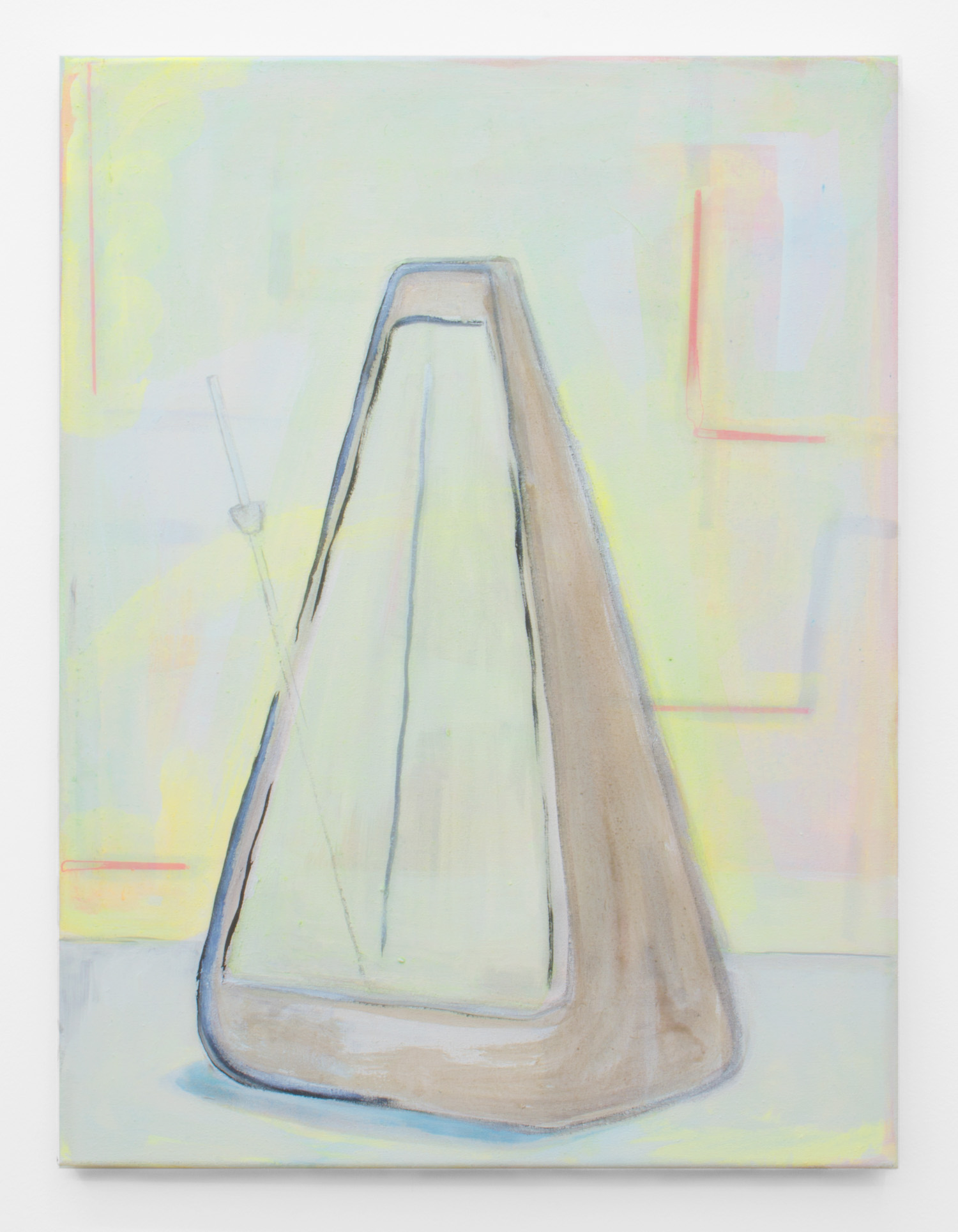 Metronome , 2015, 61 x 46 cm, acrylic, oil, emulsion and chalk on canvas.