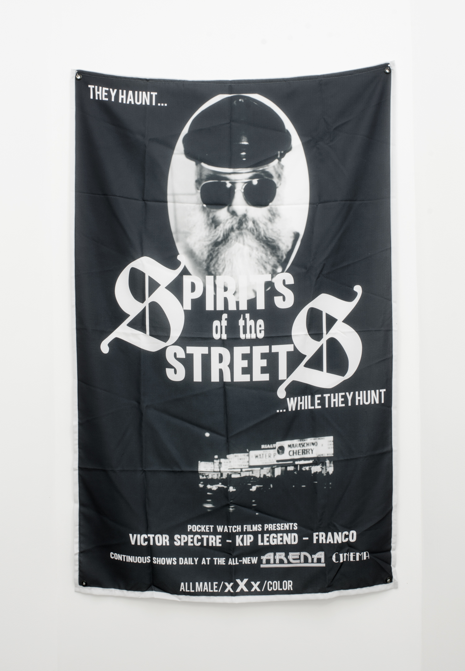 Nayland Blake   Spectres of the Streets    2014   Print on fabric   160 x 90cm