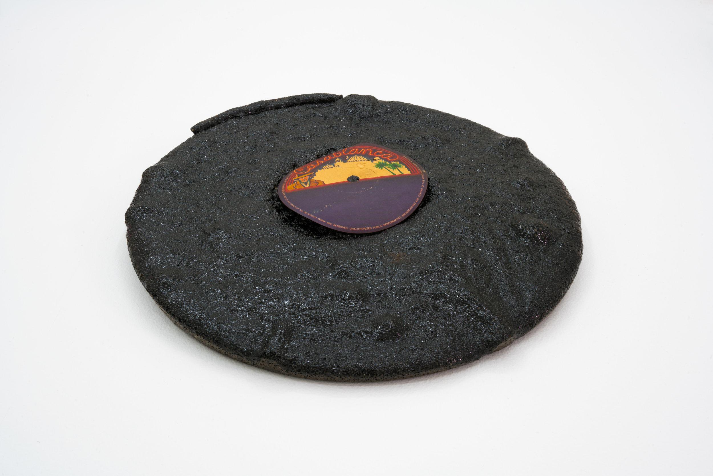 Remko Scha,  Plastic Meltdown , 1962-1992, Plastic, 3 x 29 x 29 cm