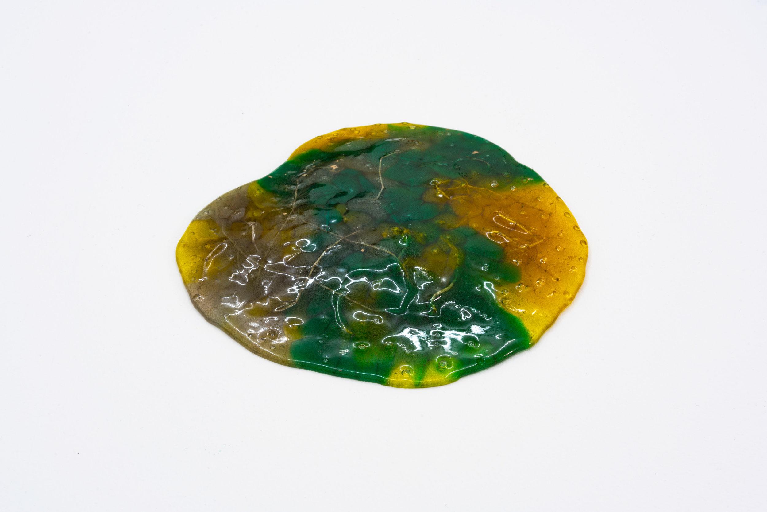 Remko Scha,  Plastic Meltdown , 1962-1992, Plastic, 1 x 17 x 17 cm