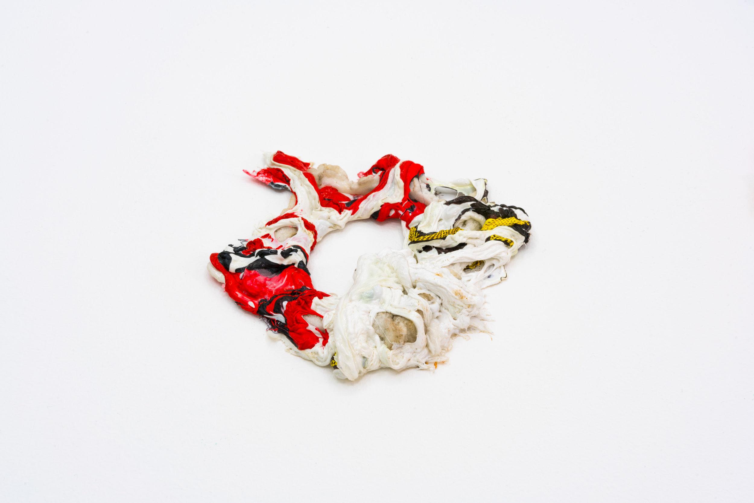 Remko Scha,  Plastic Meltdown , 1962-1992, Plastic, 2 x 14 x 14 cm