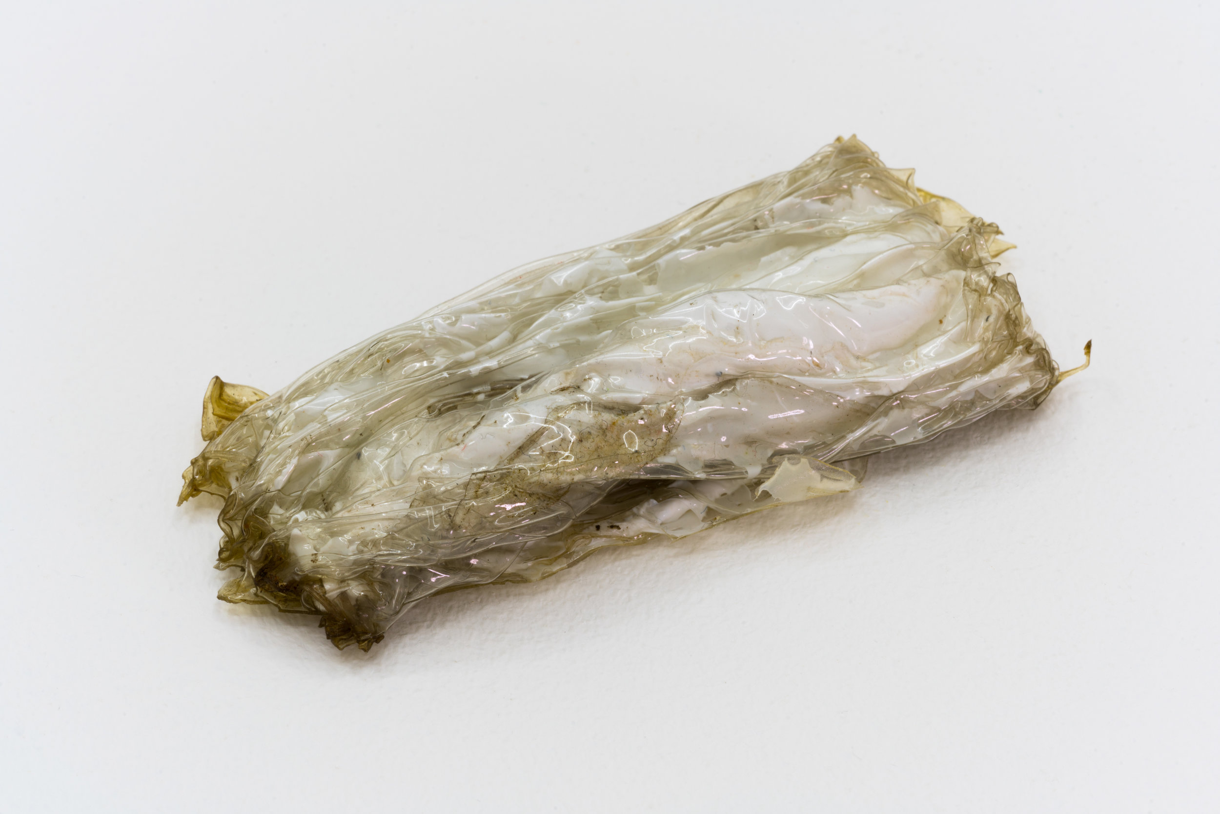 Remko Scha,  Plastic Meltdown , 1962-1992, Plastic, 2 x 12 x 5 cm