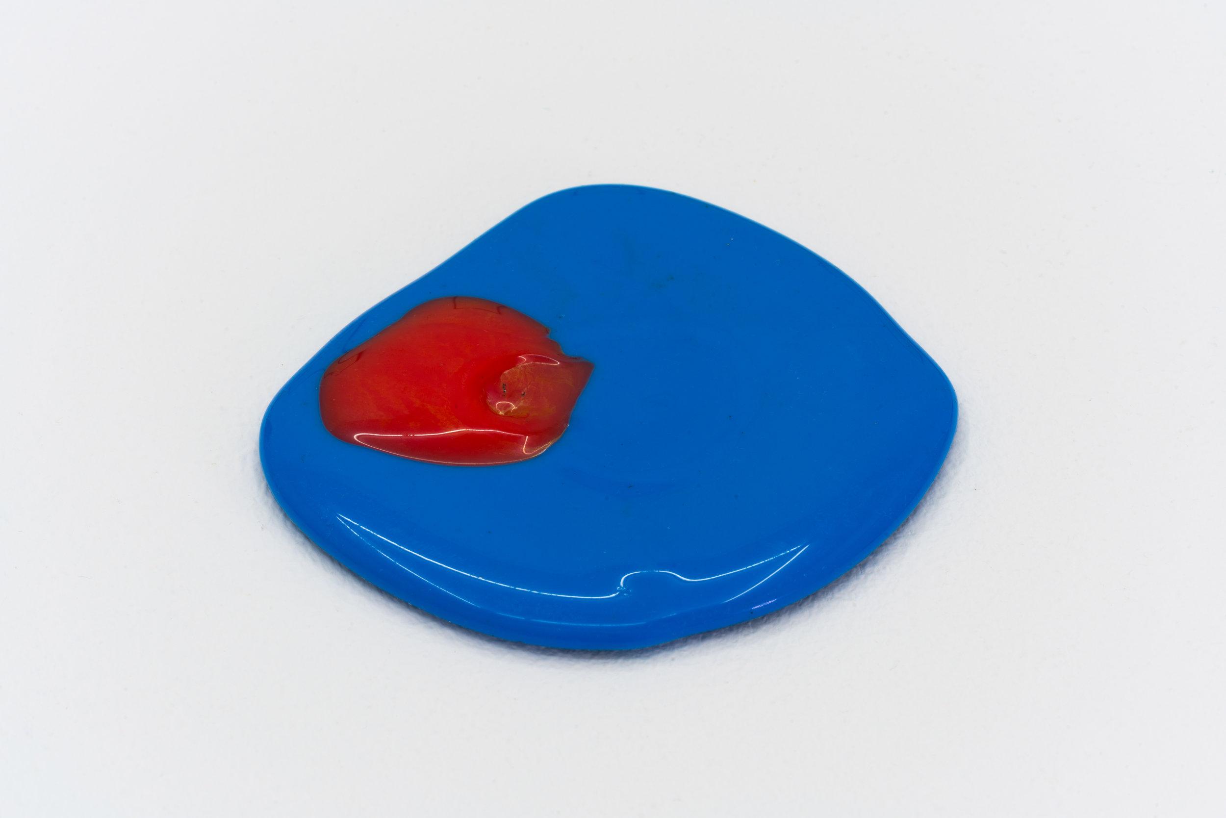 Remko Scha,  Plastic Meltdown , 1962-1992, Plastic, 0.5 x 9 x 8 cm