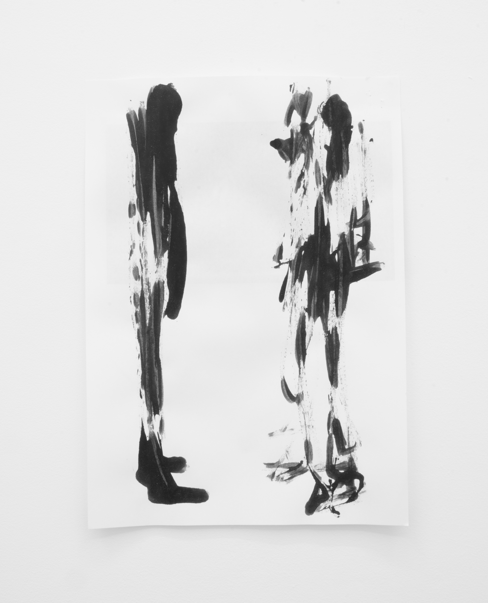 Deo-Drawing (Portrait 1)  2017 Printing ink on paper 29.7 x 21 cm