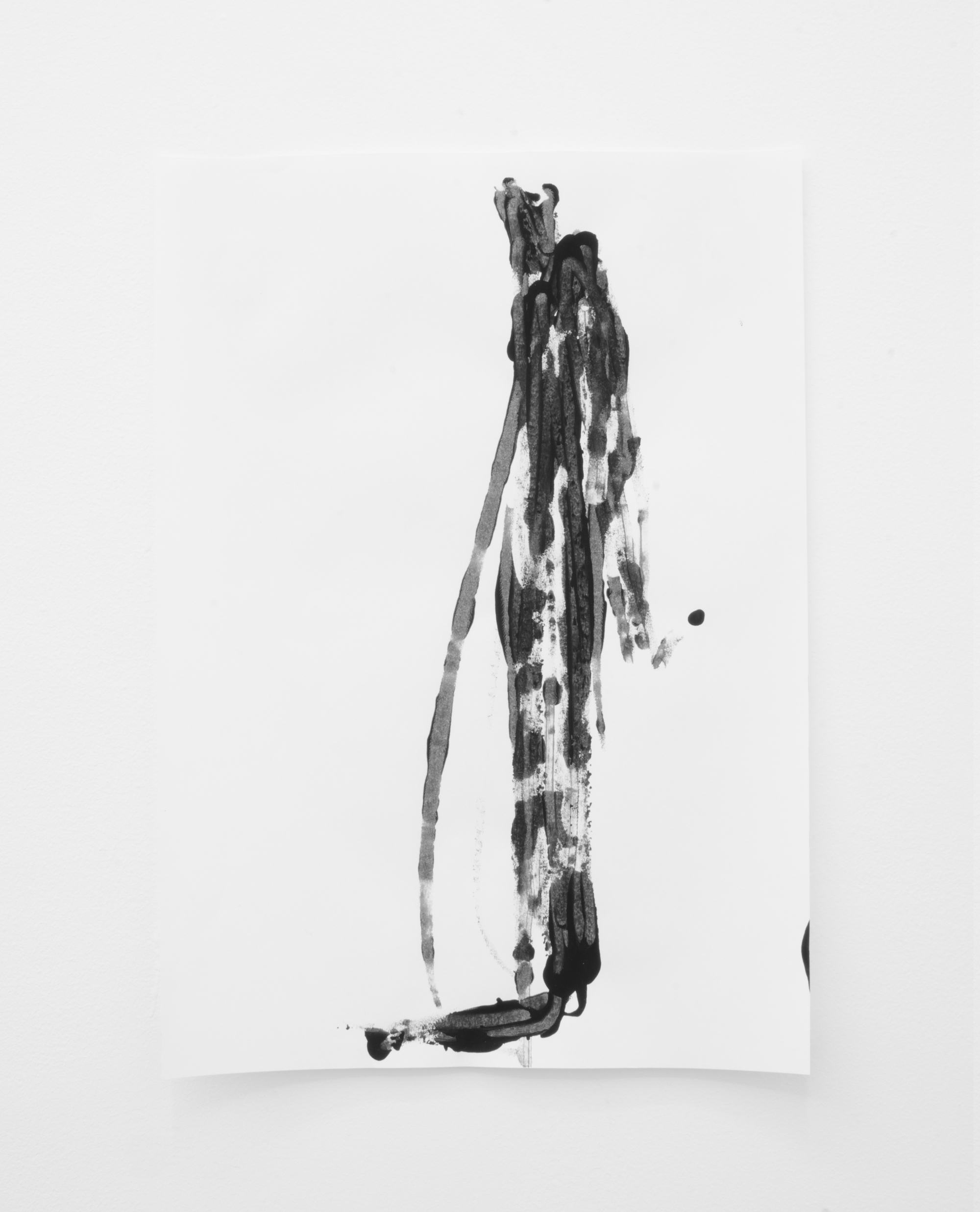 Deo-Drawing (Portrait 3)  2017 Printing ink on paper 29.7 x 21 cm