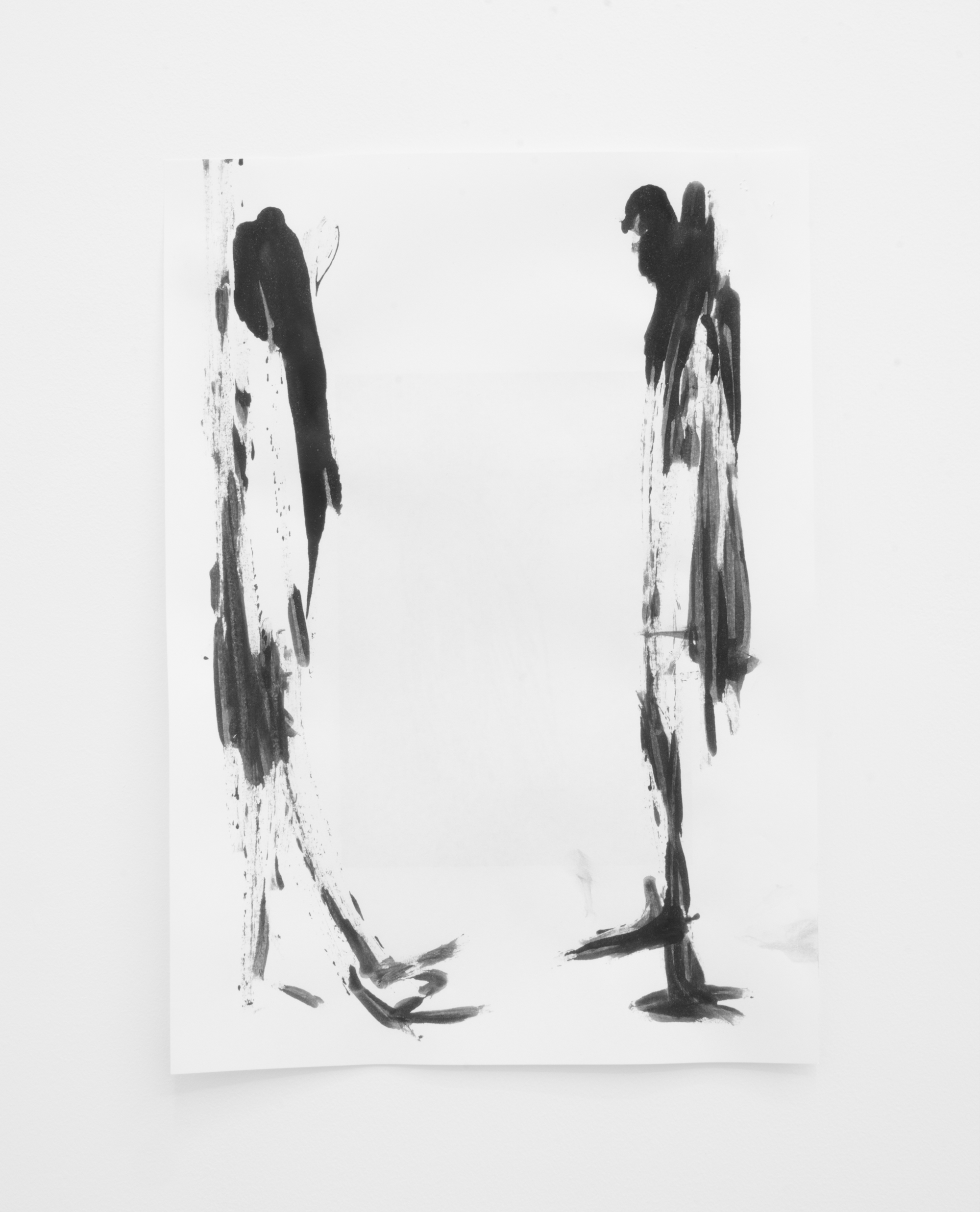 Deo-Drawing (Portrait 6)  2017 Printing ink on paper 29.7 x 21 cm