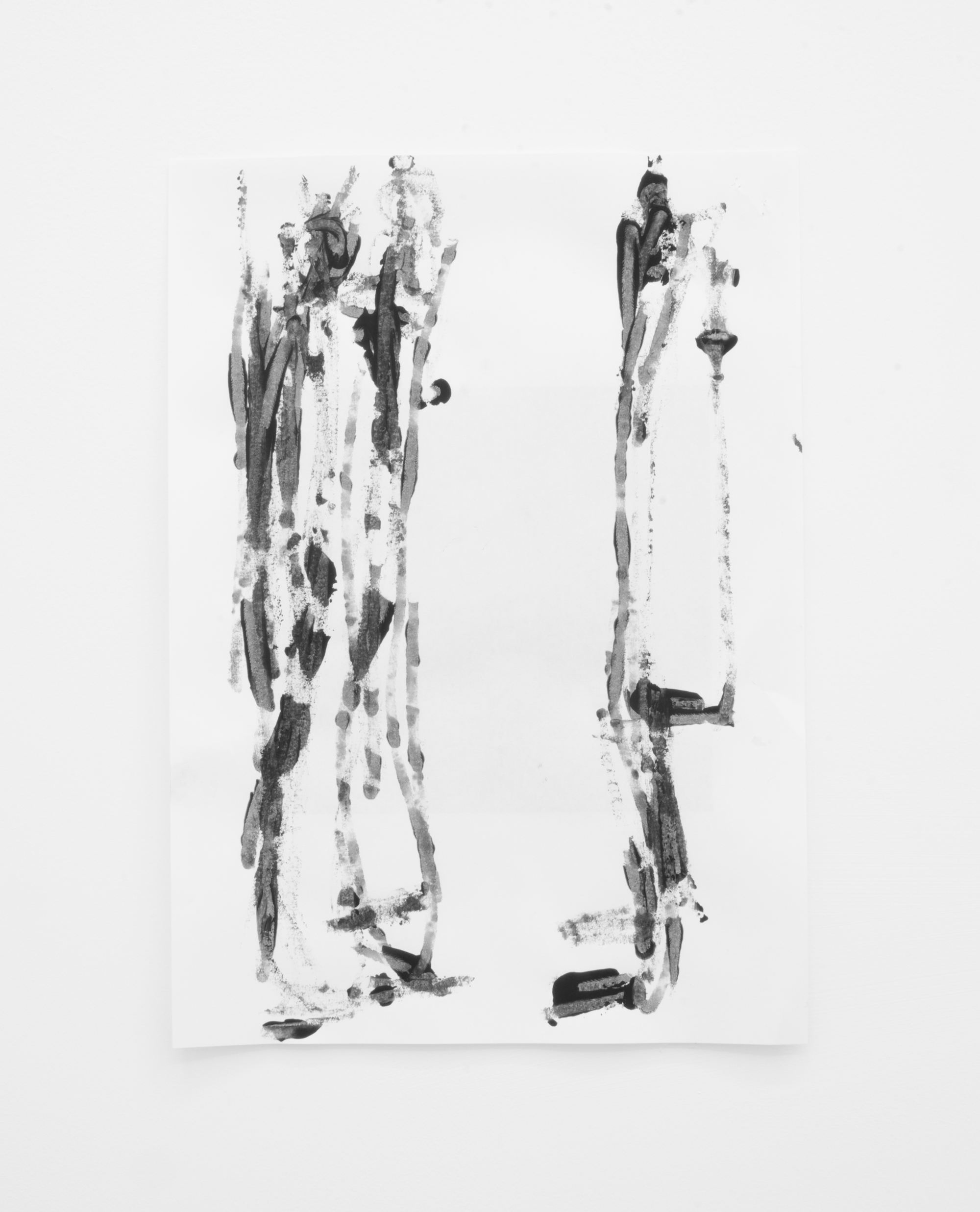 Deo-Drawing (Portrait 7)  2017 Printing ink on paper 29.7 x 21 cm