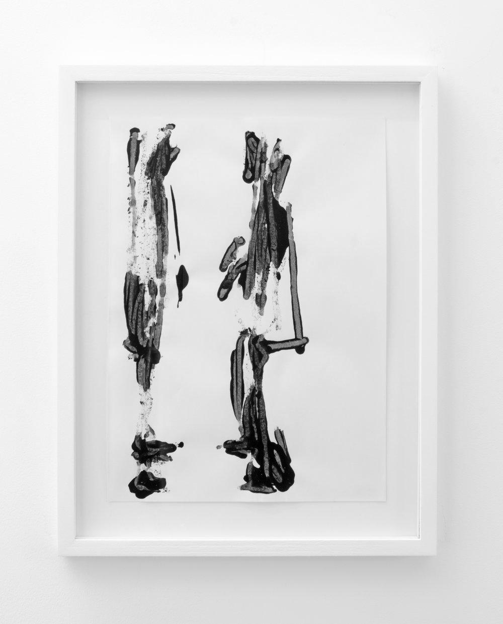 Stuart McKenzie  Deo-Drawing (Portrait 20) , 2018 Printing ink on paper. 29.7 x 21 cm
