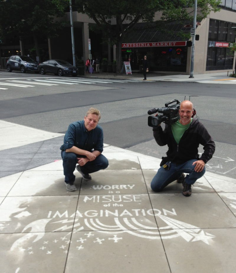 """With Jim Dever  (KING5, """"Evening Magazine"""")"""