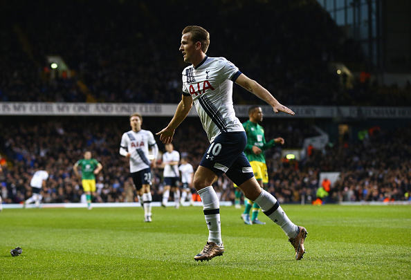 during the Barclays Premier League match between Tottenham Hotspur and Norwich City at White Hart Lane on December 26, 2015 in London, England.