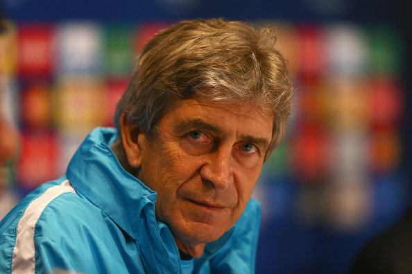 Man City manager Pellegrini before their UCL game against Dynamo Kiev. (Photo via Getty Images)