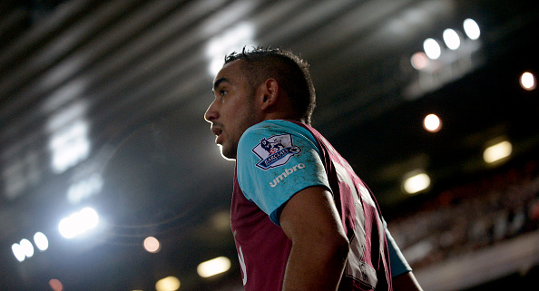 Payet in action vs. Spurs. (Photo by James Griffiths/West Ham United via Getty Images)