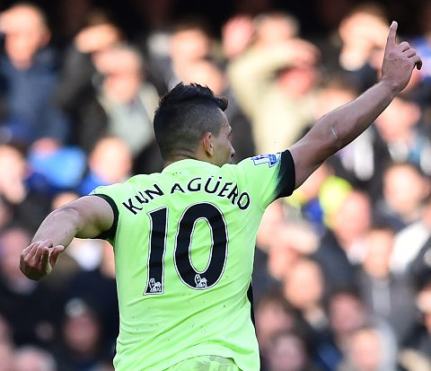 Manchester City's Argentine striker will definitely be in this week's TOTW. (Photo by BEN STANSALL/AFP/Getty Images)