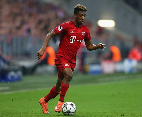 Kingsley Coman is one of the many youngsters Guardiola fostered. (Photo by Alexander Hassenstein/Bongarts/Getty Images)