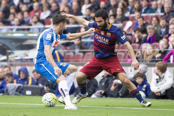 Turan had a good run-in in the game against Espanyol. (Photo by Albert Llop/Anadolu Agency/Getty Images)