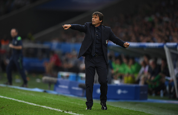 """Look who's laughing now! Antonio Conte and Italy have silenced their doubters and rejuvenated the infamous saying, """"Never write off the Italians."""" (Photo By Stephen McCarthy/Sportsfile via Getty Images)"""