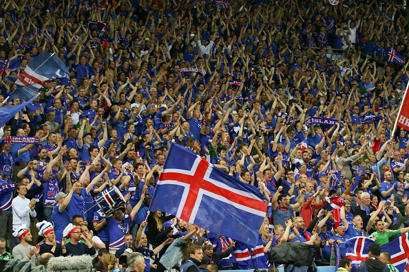 Nearly 10% of Iceland's population attended the country's match against Portugal. (Photo by Evren Atalay/Anadolu Agency/Getty Images)