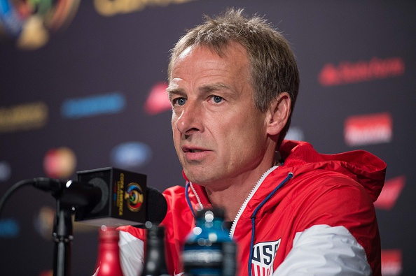 Klinsmann has had a lot to say in regards to the next step for American soccer. (Photo by NICHOLAS KAMM/AFP/Getty Images)