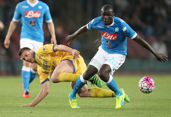 Koulibaly, of Napoli, has been heavily linked with a switch to Chelsea. (Photo by CARLO HERMANN/AFP/Getty Images)