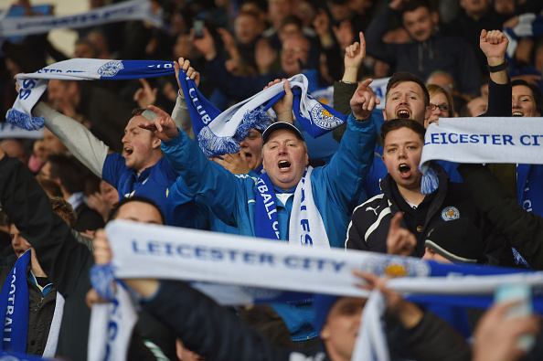 Leicester's fans have played almost as important a role in the club's success thus far as the players themselves. (Photo via Getty Images)