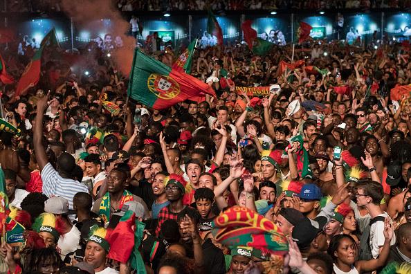 Portuguese fans were wild in Lisbon.  (Photo by Horacio Villalobos - Corbis/Corbis via Getty Images)