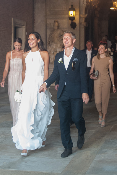 Aah! What a beautiful sight marriage is! Manchester United fans will hope that this event rejuvenates the player's form for their club, as the midfielder has struggled since making the move from Bayern Munich.  (Photo by Awakening/Getty Images)