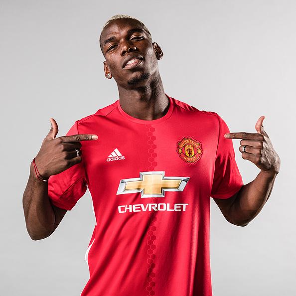 Yep. Pogba's gone. (Photo by Man Utd via Getty Images)