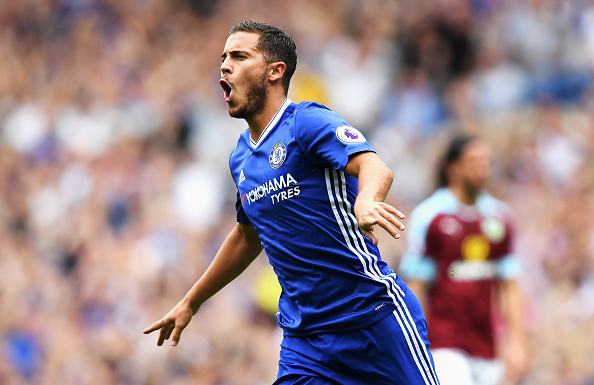 If Hazard keeps putting in performances like these, Chelsea could just overtake the Manchester sides and claim the title in May. (Photo by Darren Walsh/Getty Images)