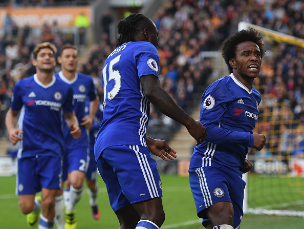 Chelsea could miss Willian for their game against Leicester City. (Photo by Shaun Botterill/Getty Images)