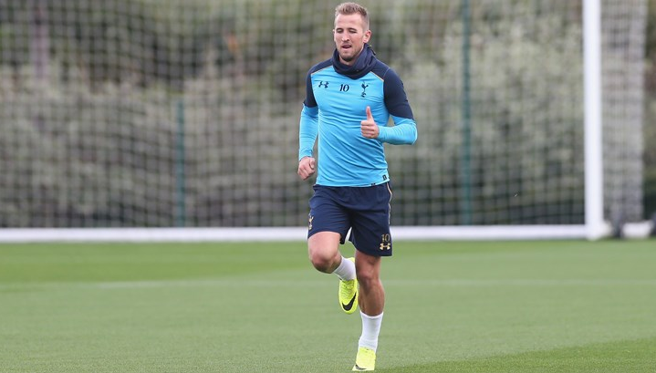 Harry Kane is back in light individual training, good news for a Spurs team that badly needs him back. (Photo via  Totteham Hotspurs FC )