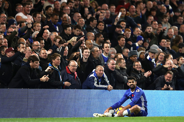 Diego Costa has taken out the nonsense from his game—and Chelsea are more deadly for it. (Photo by Julian Finney/Getty Images)