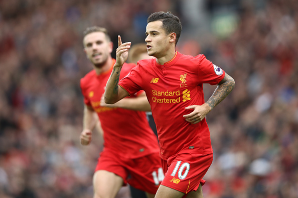 Coutinho has been pivotal to Klopp's side marauding to the top of the Premier League. (Photo by Julian Finney/Getty Images)