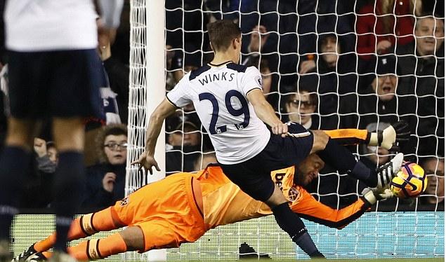 Harry Winks' debut goal got Spurs back on track against West Ham. (Photo via Reuters)