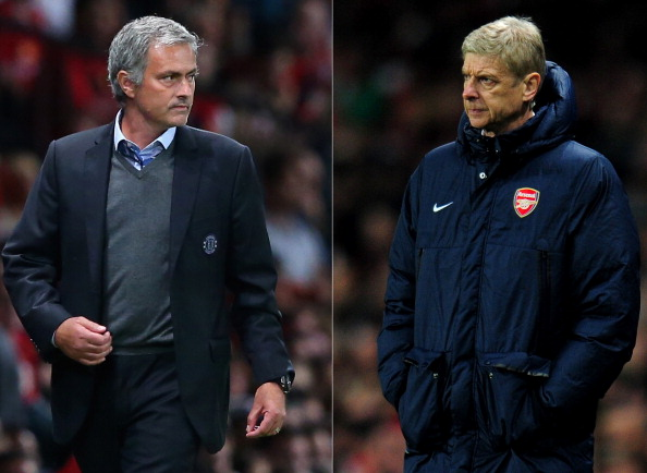 Mourinho's feud with Wenger often boils into a classless brawl between two men. Although Mourinho was the media's charm back in his first spell with Chelsea, Wenger has kept the respect of the media throughout the entire tenure of his Arsenal career. (Photo via Getty Images)