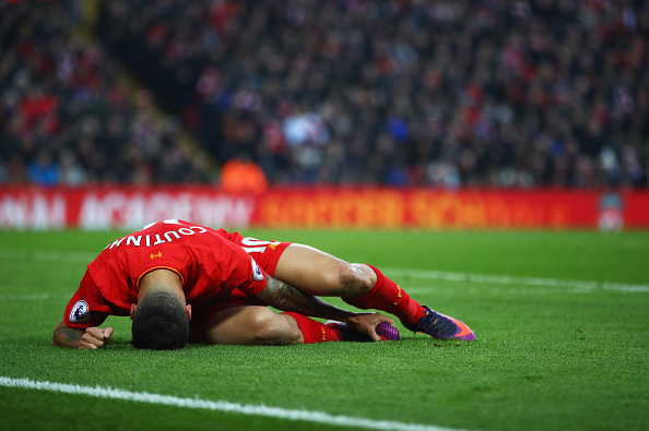 Coutinho's injury could spell bad news for Liverpool in the coming weeks. (Photo by Clive Brunskill/Getty Images)