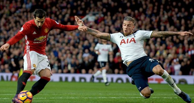 Mkhitaryan made the most of his chance on Sunday, something Spurs have failed to do against the top teams. PHOTO CREDIT:Peter Powell/EPA