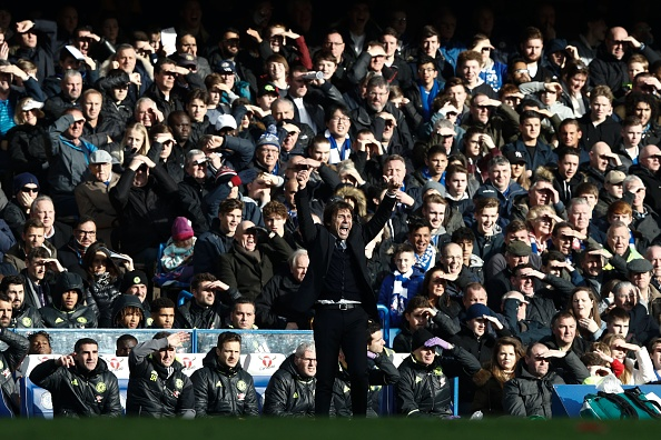 Antonio Conte's tactical implementations have played as big a part in Chelsea's revival as his touchline passion. (Photo by Adrian Dennis/AFP/Getty Images)