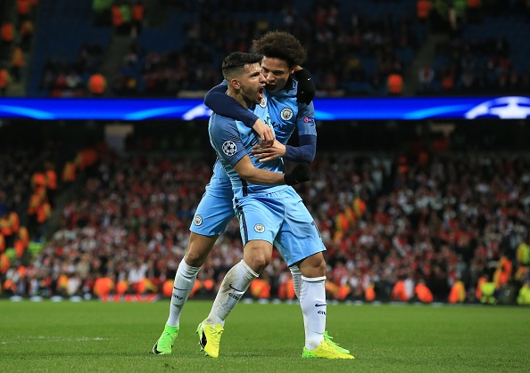 Sergio Aguero was crucial as City came from behind to beat Monaco in a hugely entertaining affair. (Photo by Lindsey Parnaby/Anadolu Agency/Getty Images)