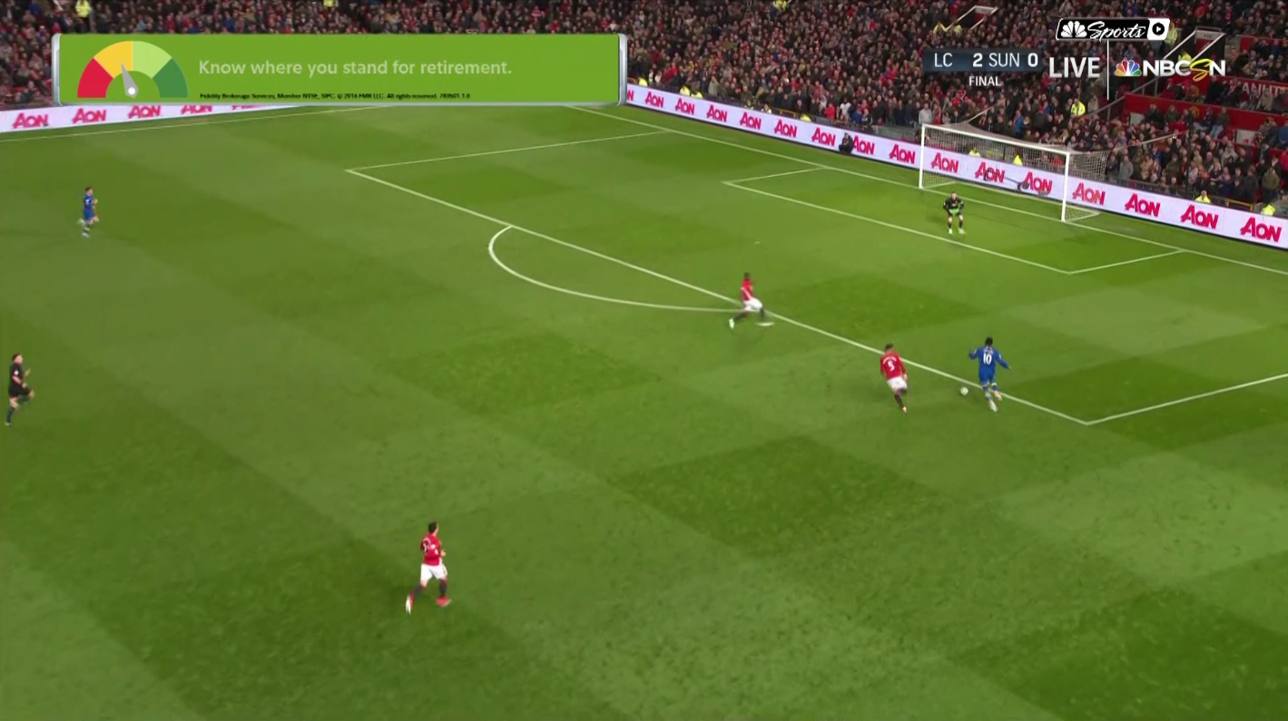 Everton's opportunity in the 79th minute.