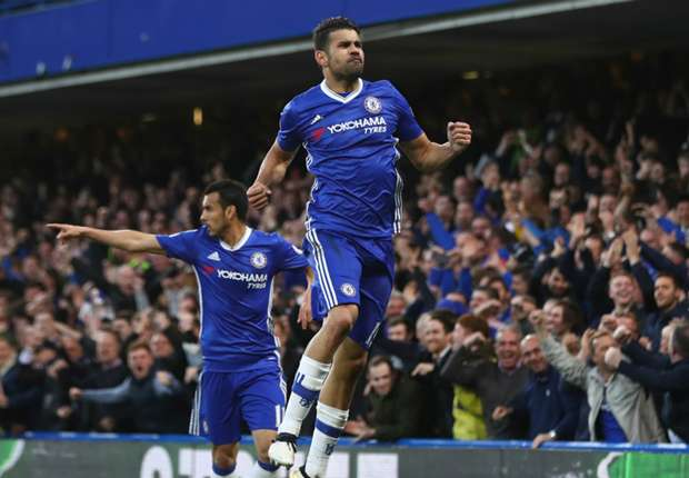 Diego Costa and Chelsea are on the brink of a deserved Premier League title. (PHOTO CREDIT: Michael Steele/Getty Images)