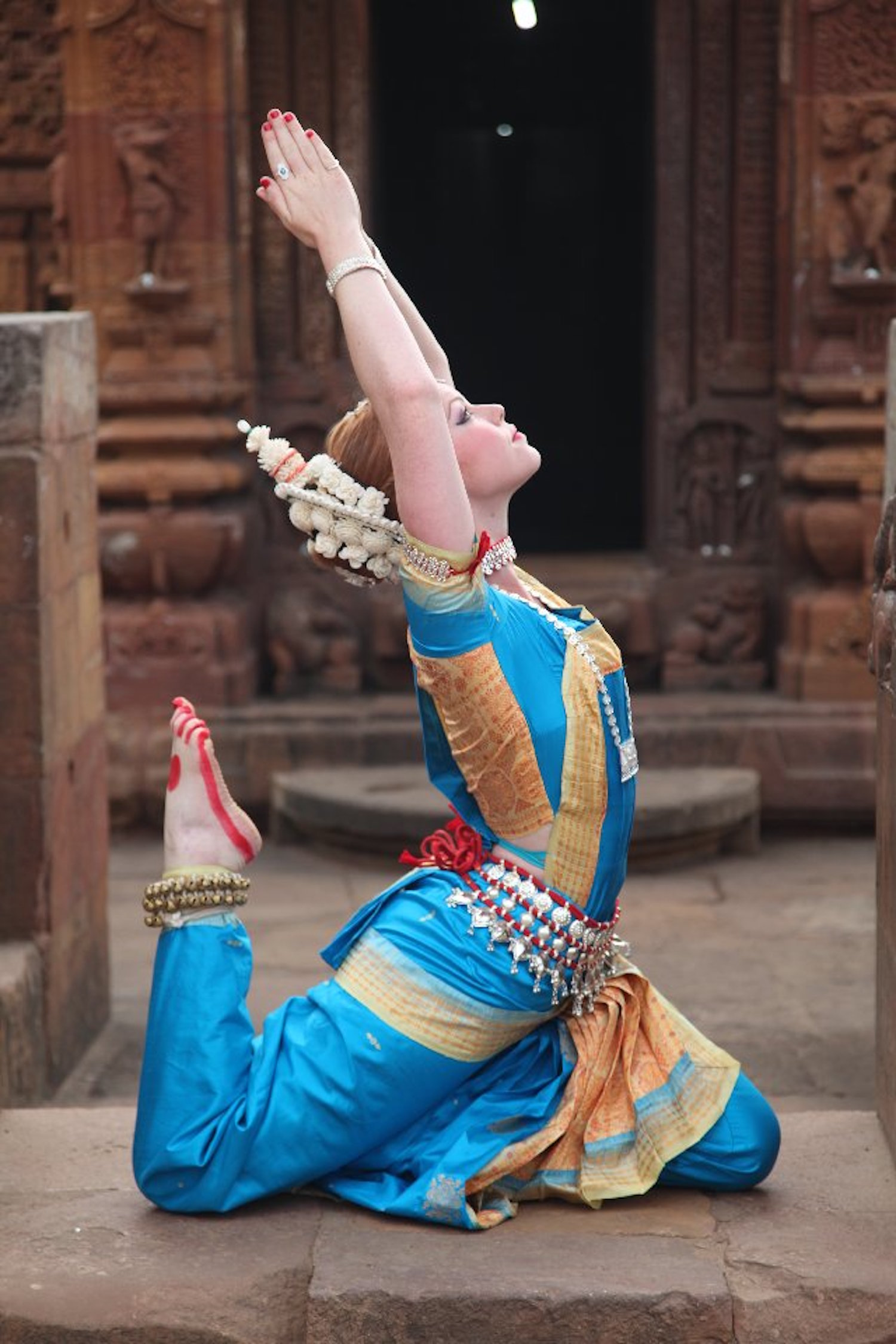 Shauna in Mukteshwar Mandir, 2012