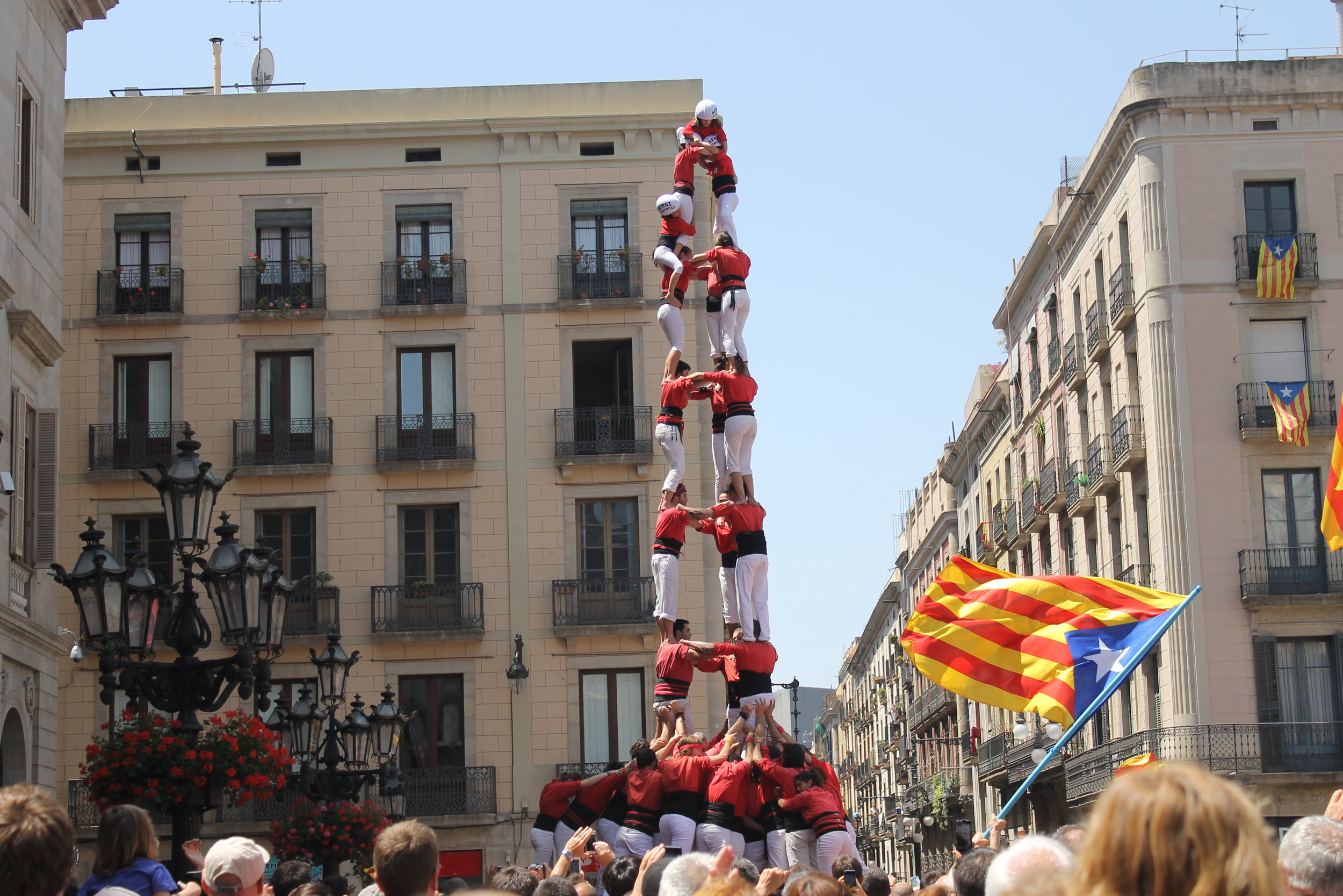 Castellers, or human towers