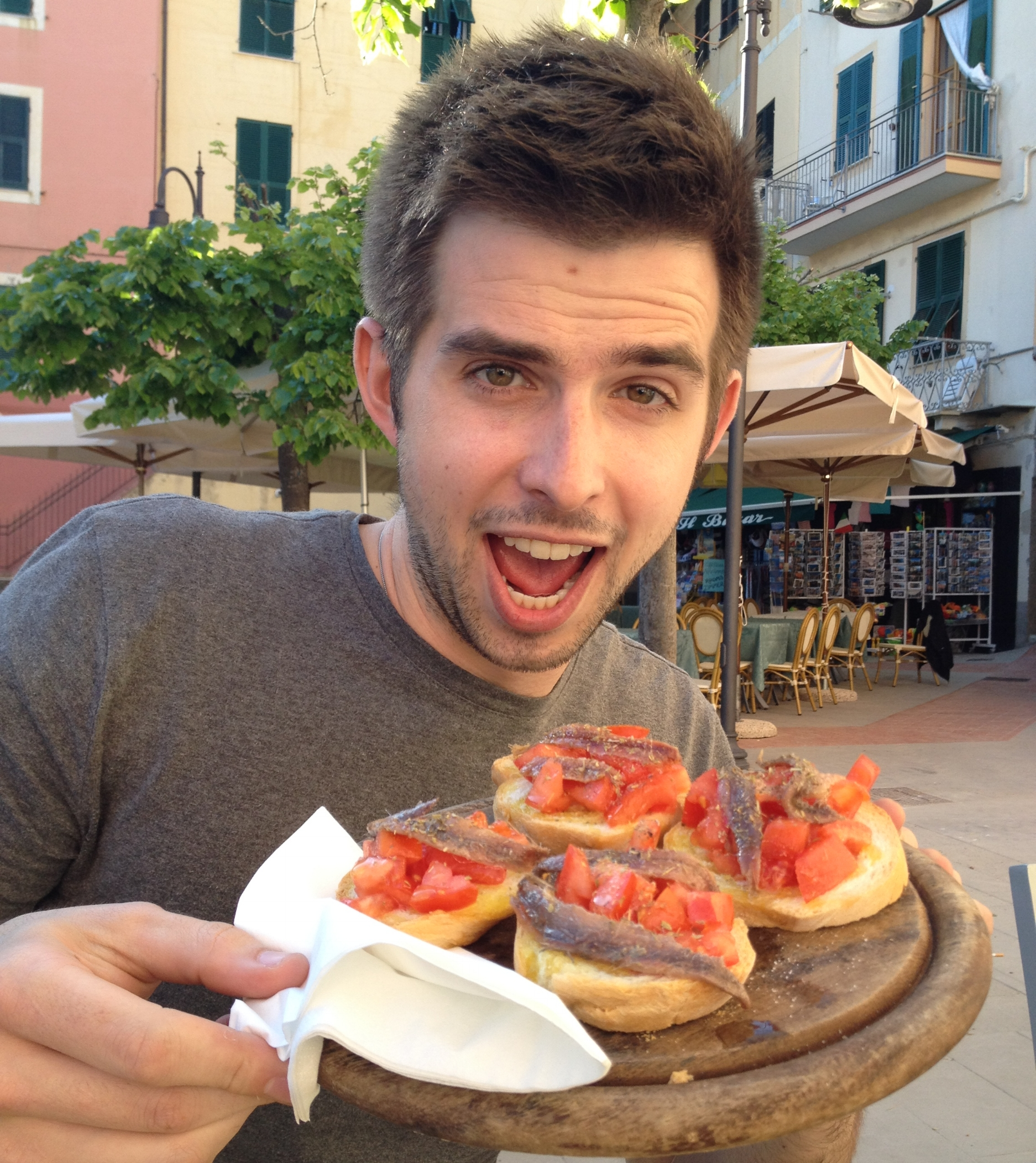 Trying out the local tapas (featuring anchovies...)