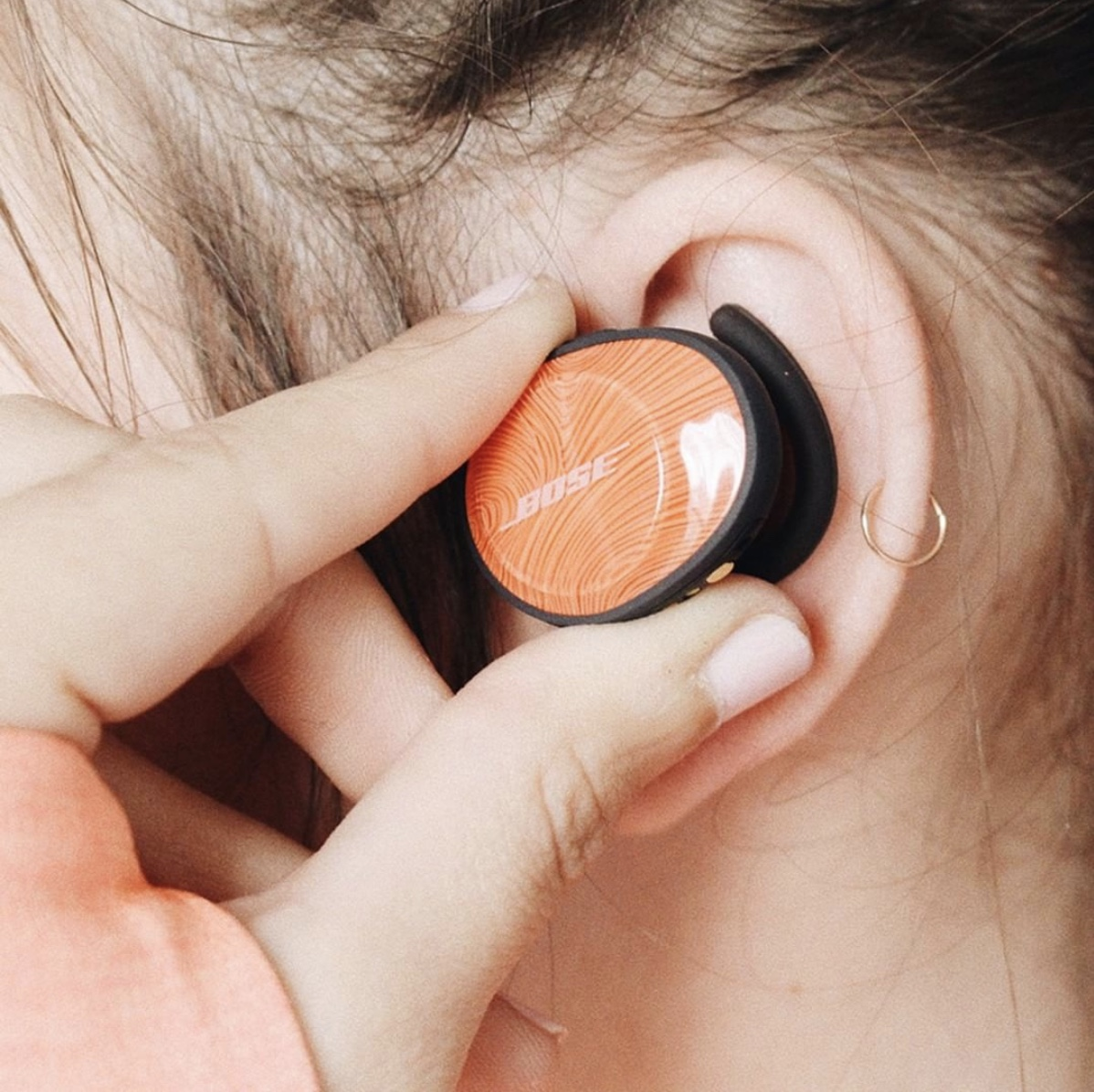 Fits comfortably in your ear and stays there. Check them out at Bose.com!