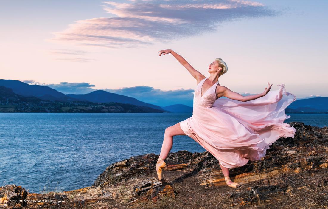 Phoyo: EMily Cooper / Dancer: Kelsey Hanna / Wardrobe: Bliss Bridal / Location: Bertram Creek Regional Park, Kelowna, BC