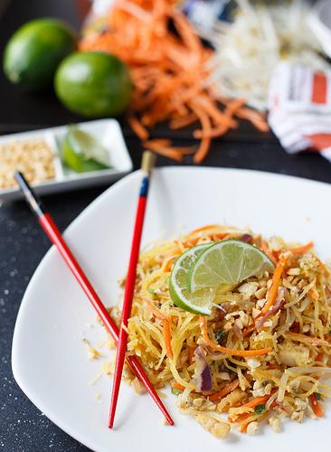 Spaghetti Squash Veggie Pad Thai - Enlightened Pad Thai by Jenergy