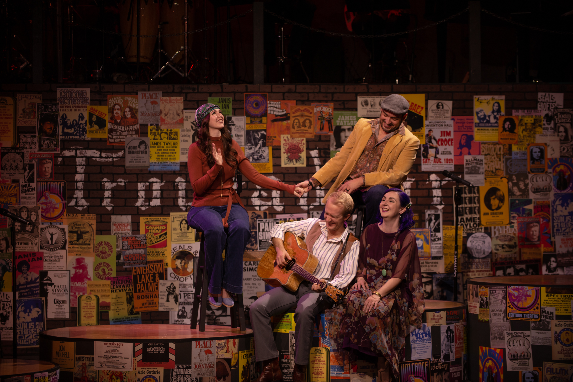 Anne Terze Schwarz, Joe Callahan, Jacob Villareal, and Emily Erkman in  Take to the Highway