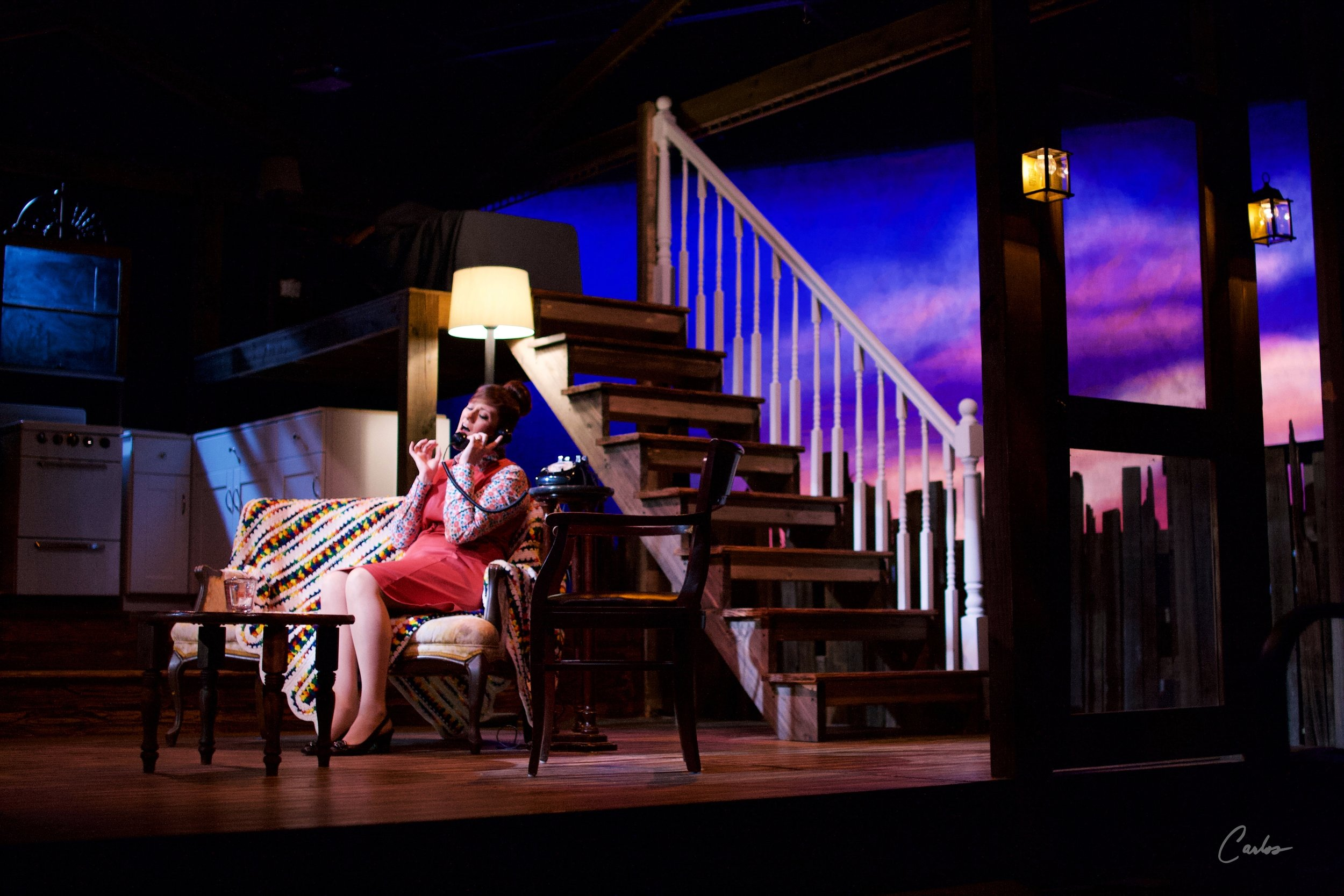 "Maggie Tisdale as Rose in Aurora Fox Arts Center's ""Caroline or Change"" Photo Credit: Carlos Flores"